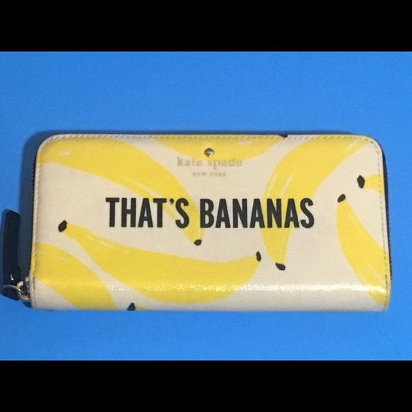68567149 Kate Spade That's Bananas Zip-Around wallet NWOT